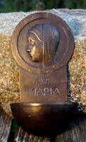 Alex Weischer altes Weihwasserbecken Bronze Ave Maria 30er Kirche Künstlerarbeit