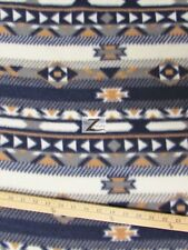 "INDIAN PRINT POLAR FLEECE FABRIC - Navy - 60"" WIDTH SOLD BY THE YARD 298"