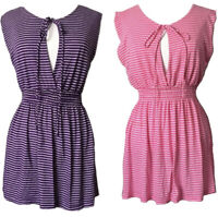 Lux UO Brand Womens SzM Bundle 2 Mini Casual Dress Keyhole Tie Stretch Jersey