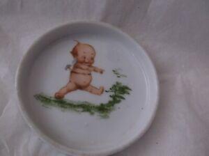 "ANTIQUE ROSE O'NEILL WILSON KEWPIE pin dish Royal Rudolstadt PRUSSIA 2 3/4"" GC"
