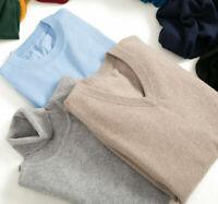 Men casual Cashmere Loose Pullover Turtleneck Knit Sweater Cardigans Jumper coat