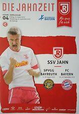 Programm 2015/16 Jahn Regensburg - SpVgg Bayreuth / Bayern München (Friendly)