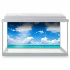 Fish Tank Background 90x45cm - Blue Sky Tropical Paradise Beach  #24595