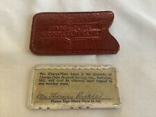 Vintage credit charge card Metal Charga-Plate Stores Baltimore MD