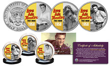 ELVIS PRESLEY Love Me Tender JFK Half Dollar 3-Coin Set OFFICIALLY LICENSED B/W