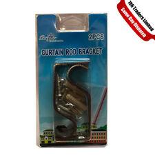 New Curtain Pole Rod Wall Bracket Holder Heavy Duty Metal Curtain Holder Rod UK
