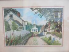 Mildred Sands Kratz AWS Signed/Numbers Print 354/650 White Church in Village???