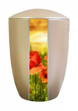 Farley Beige Poppy Cremation Cendres Urn-uu160002g