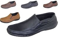 Mens Slip on Loafers Boat Deck Mocassin Comfort Walking Driving Casual Shoes