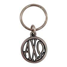 Alpha Chi Omega Metal Monogram Keychain