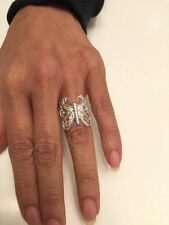 .925 Sterling Silver Butterfly Ring J 59