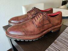 Warfield & Grand Plain Toe Leather Derby Cognac Brown Dress Shoes Size 9.5 Rare