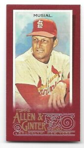 2020 Allen & Ginter STAN MUSIAL St. Louis Cardinals RED PARALLEL MINI 1/5~1/1