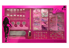 Girl Nails Decoration Kit French manicure nail art set Gems file tips Nails