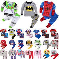 Toddler Boys Girls 2Pcs Cartoon Sleepsuit Nightwear Pyjamas Casual Outfits Sets