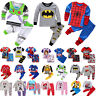 Toddler Boys Girls 2Pcs Cartoon Sleepsuit Nightwear Pyjamas Casual Outfits Sets