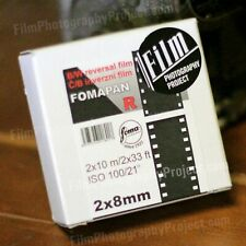 Regular 8mm / Double 8 Movie Film - Foma BW Reversal 100 (New, Fresh!)