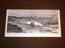 Podgorica, Podgorizza o Titograd e ponte sulla Bibniza nel 1877 Montenegro