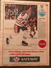 Lee Fogolin 1982 Full Page Uncut Edmonton Sun 11.5 by 15 Safeway Sponsored