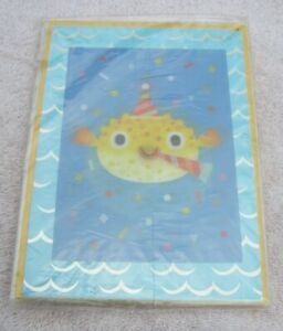3 Pack 3D Puffer Fish Lenticular Birthday Papyrus Greeting Cards High Quality