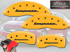 "2010-2013 Chevy ""Impala"" Front + Rear Yellow MGP Brake Disc Caliper Covers 4pc"