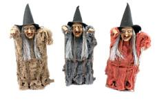 Strega Movimento Luci e Suoni 30 cm Decorazioni Halloween Befana Natale