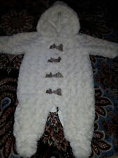 Mamas & Papas Baby Girl 3-6 Months Fur All In One Outfit