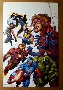 Avengers Wolverine Storm Captain America Marvel Comics Poster by Aaron Lopresti