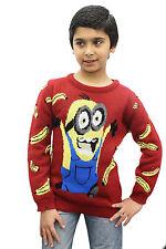 Boys Girls Unisex Kids Novelty Retro Sweater Santa Party Christmas Jumpers Xmas