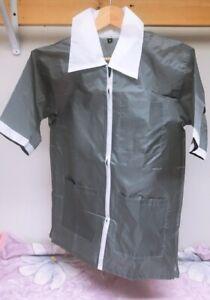 Professional Barber Vest Jacket Black Grey Ultra Lightweight grey color