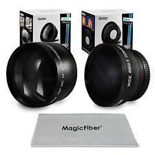 52MM Wide Angle & 2.2X Telephoto Lens for Nikon D7100 D5200 D3300 D3200 D3100