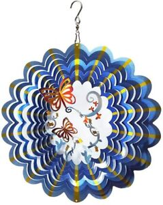 Wind Spinner Stainless Steel 3D Hanging Garden Decoration-BUTTERFLY