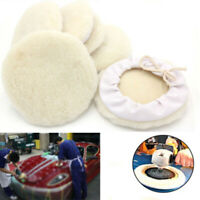 6Piece 7inch Auto Car Wool Bonnet Buffing Wheel Pads Buffer Polishing Polisher