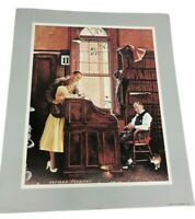 "Marriage Licenses Norman Rockwell Print 12"" X 10"""