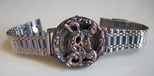 Men's Silver/Gold/Rose Gold Finish biker Style Skull dial fashion wrist watch