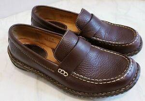 Born Womens Shoes Size 8 Brown Leather Driving Mocs Loafers Slip On Comfort EU39
