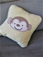 """9"""" Square Yellow Baby Pillow Plush Stuffed/Monkey Face Novelty Front-Reversable"""