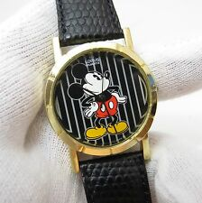 MICKEY MOUSE, Lorus, Disney, Black Stripe Face, Cool, Uisex/Boy's WATCH, 590