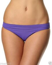 Calvin Klein Swimwear Bikini Bottoms Placement Logo Purple Size 14
