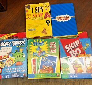 Kids Favorite Card Games Thomas Friends I Spy Skip Bo Angry Birds Whac A Mole