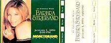 BARBRA STREISAND 1994 MGM GRAND LAS VEGAS SHOW ORIGINAL $1,000 UNUSED TICKET