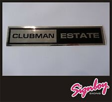 Classic MINI Clubman Estate Sticker / Badge / Decal - Chrome / Black-1275GT SHOW