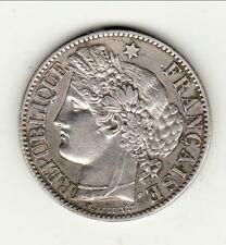 RARE SUP  cote  130 EURO 2 francs CERES 1871 petit A