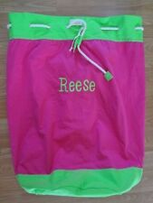 Scene Weaver Delight Canvas Carry-All Bag Pink and Green Large