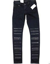 H&M Womens Skinny Leg Low Waist Southwestern Stud Washed Black Jeans Sz 27