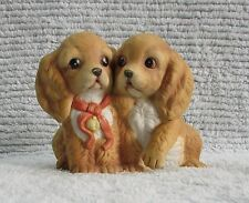 "1988 Masterpiece Porcelain HOMCO 4"" Cocker Spaniel Puppies Dog Figurine FREE S/H"