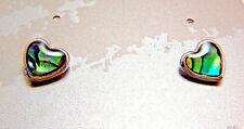 PAUA Shell Abalone Nature's 1 Earrings Wheeler Mfg Heart WME 010 NEW