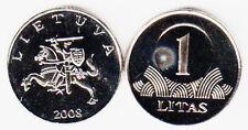 1 LITAS 2008 LITUANIA LITHUANIA Fdc Unc #3219