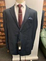 Mens Designer slim fit 2 piece suit Navy For Weddings Office size 42/36