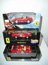 3  FERRARI  hot wheels + BOITE   : F40 + 550 BARCHETTA + 365 GTB 4
